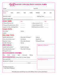 invoices weddingaphy invoice template cake order forms templates