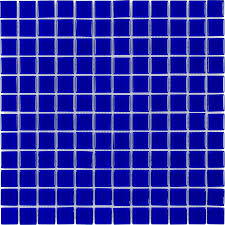 Royal Blue Bathroom by Elida Ceramica Royal Blue Uniform Squares Mosaic Glass Wall Tile