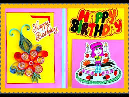 best handmade birthday greeting card for best friend paper