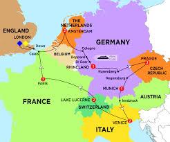Amsterdam Map Europe by European Adventures Trafalgar Aus