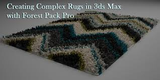 Forest Rug Creating Rugs With Forest Pack Pro Youtube