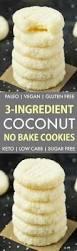 keto cheesecake fluff 3 ingredient no bake coconut cookies keto paleo vegan sugar