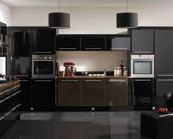 black cabinet kitchen ideas drum pendant ls and glossy black cabinet for small