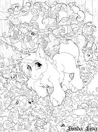 unicorn forest by lindalisa on deviantart coloring pages