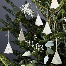 textured ceramic tree ornaments set of 3 on food52