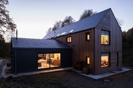 cross shaped house by elliott architects stands in english