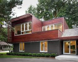 natural modern design modern cinder block house that has