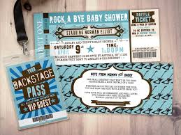 coed baby shower rock concert ticket baby shower invitation coed baby