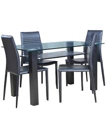 Dining Table With 4 Chairs Price Hometown Presto Four Seater Dining Table Set Black Amazon In