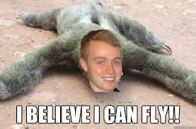 I Believe I Can Fly Meme - i believe i can fly riley sloth quickmeme