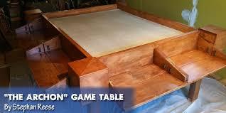 expandable game table expandable game table coolest diy gaming tables webb pickersgill