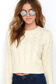cable sweater sweater cable knit sweater cropped sweater 67 00