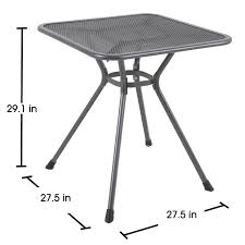 Metal Mesh Patio Furniture - royal garden ludwig square outdoor bistro table
