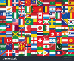 World Flag Background Made World Flag Icons Stock Vector 118972663 Shutterstock