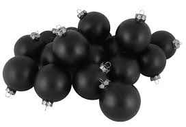 club pack of 48 matte black glass ornaments 2