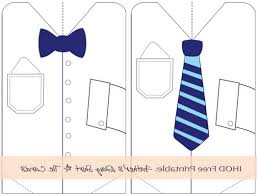 free crafts bow tie fathers day card printable tax donation 498108