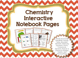 Periodic Table Changes Chemistry Interactive Notebook Pages Physical Change Help