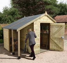 pretty shed 8 x 6 shed plus chion heavy duty workshop with logstore