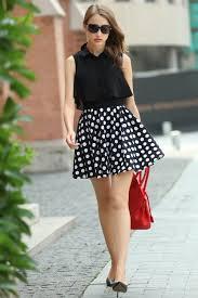 modern black top chiffon women dress 2017 summer mini white