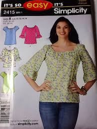 s blouse patterns simplicity 2415 and look 6891 two blouse patterns with