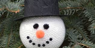 diy frosty the snowman ornament the resourceful