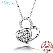 sted necklaces aliexpress buy l zuan 925 sterling silver diamond ture