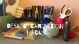 desk organization hacks craftz of life youtube