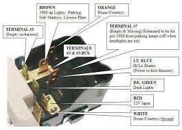 details of a headlamp switch chevelle tech