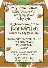 football baby shower football baby shower invitation touch wide receiver