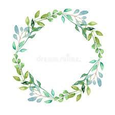 greenery garland watercolor garland summer greenery wreath wedding leaves green stock