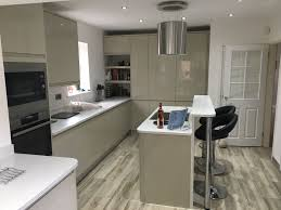 a beautiful howdens clerkenwell gloss flint grey kitchen designed by