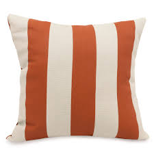 shop burnt orange vertical stripe large outdoor pillow majestic
