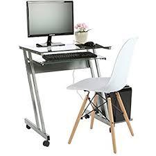 Glass Computer Desk Amazon Com Tier One Designs Clear Glass Corner Computer Desk