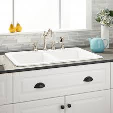 Drop In Sink Bathroom Drop In Kitchen Sinks Signature Hardware