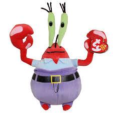 ty beanie baby mr krabs spongebob squarepants 7 5 inch