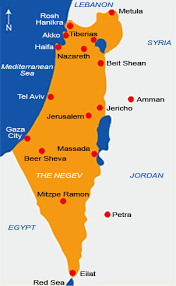 map of us vacation spots map of israel