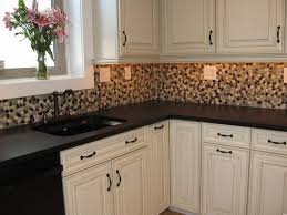 interior gray and white painted oak cabinets featured on