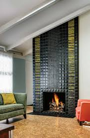 home design fireplace tile ideas craftsman midcentury medium