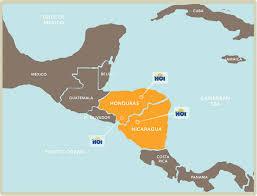 america map honduras honduras and nicaragua mission trips hoi