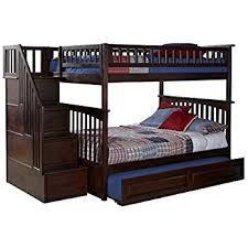 Amazoncom Bunk Bed Full Over Full With Trundle In Cappuccino - Full over full bunk bed with trundle