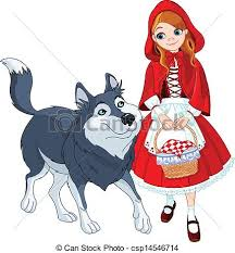red riding hood wolf clipart clipartxtras