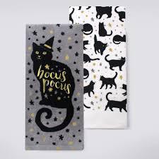 halloween together black cat hocus pocus kitchen towel 2 pk