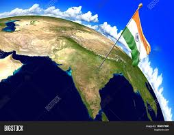 World Map Country Flags India National Flag Marking Country Image U0026 Photo Bigstock