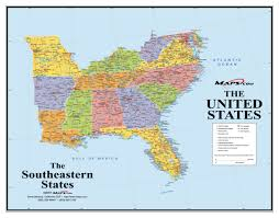 Map Of Alaska And Usa by Southeast Usa Wall Map Maps Com