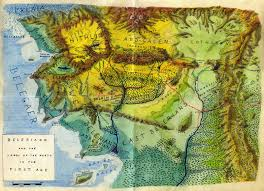 Lord Of The Rings Map Lalaith U0027s Middle Earth Science Pages Topographic Maps Of