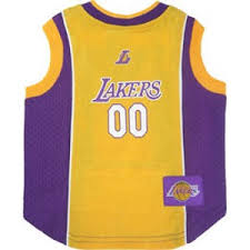 los angeles lakers dog jersey officially licensed nba pet clothes