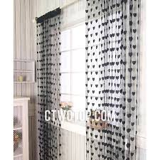 Black Sheer Curtains Black Patterned Affordable Best Cheap Cool Sheer Curtains