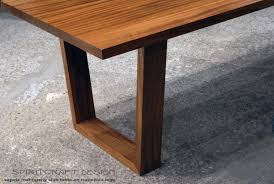 mid century dining table anonymous walnut by apelli modern style