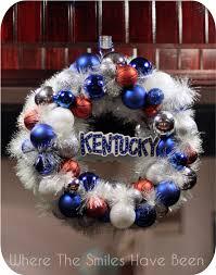of kentucky basketball ornament wreath
