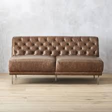 tan brown leather sofa leather sofas cb2